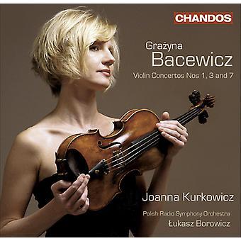 G. Bacewicz - Grazyna Bacewicz: Violon Concertos nos 1, 3, 7 importation USA [CD]