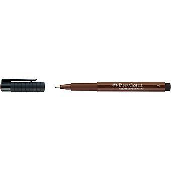 Faber Castell Pitt Taiteilija Fineliner 0,5 mm kynä (F, 175 Dark Seepia)
