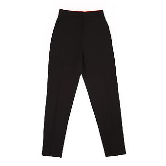 Paul Smith Vintage Womens Slim Trousers Edged In Red Satin
