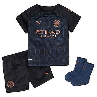 Puma Manchester City 2020/21 Infant Kids Baby Away Fotboll Kit Svart