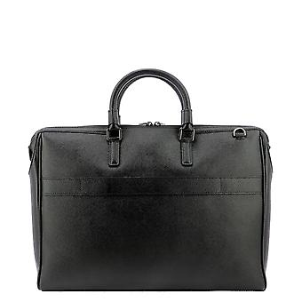 Serapian 6198m38b292 Men's Black Leather Aktetas