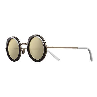 Cutler and Gross 1277 01 Gold-Milky White/Rose Gold Mirror Sunglasses