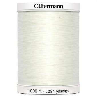 Gutermann Costura-tudo 100% Polyester Thread 1000m Mão e Máquina 111 Bridal White