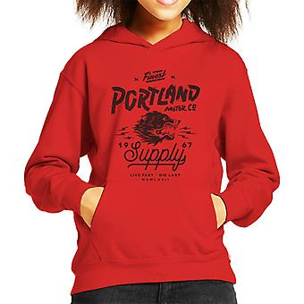 Divide & Conquer Portland Motor Co Kid's Hooded Sweatshirt