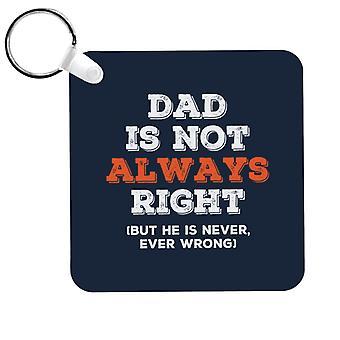 Papa n'a pas toujours raison, mais jamais tort Keyring