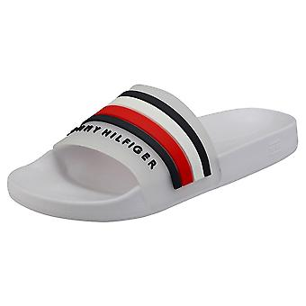 Tommy Hilfiger Poolslide Mens Slide Sandals in White
