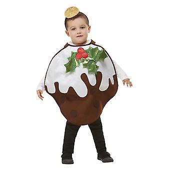 I bambini Glitter Natale Pudding Costume Fancy