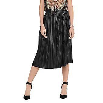 Only Women's Pleated Midi Skirt Leather Look