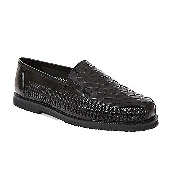 Deer Stags Mens Tijuana Leather Round Toe Slip On Shoes