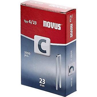 Type 4 narrow crown staples 2000 pc(s) Novus 042-0595 Clip type 4/23 Dimensions (L x W) 23 mm x 6 mm