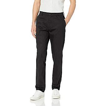 Goodthreads Men's Athletic-Fit Wrinkle Free Dress Chino Pant, Black Pinstripe...