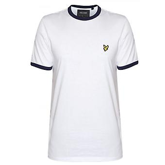 Lyle & Scott White & Navy Ringer T Shirt