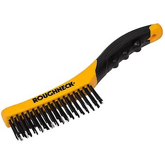 Roughneck Shoe Handle Wire Brush Soft Grip 255mm (10in) ROU52044