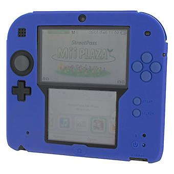 Zedlabz soft silicone gel protective cover rubber bumper case for nintendo 2ds - blue