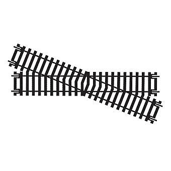 Diamant de Hornby R615 traversant l'écartement des rails 00 main droite