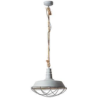 BRILLIANT Lamp Köysi riipus Lamppu 47cm Harmaa Betoni   1x A60, E27, 60W, sopii normaaleille valaisimista (ei sisälly pakkaukseen)   Mittakaavassa
