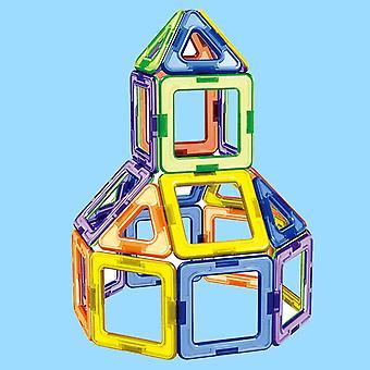 30pcs Kids Triangle Square Magnetic Diy Big Building Blocks- 3d Stacking Bricks