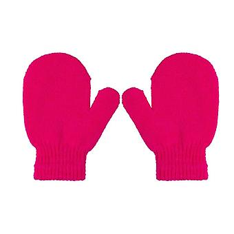 Candy Color Baby Girls Boys Winter Warm Toddlers Solid Kinting Mittens Gloves