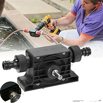 Mini Self-priming Portable Electric Drill Pump With Hose Clamp And Connector