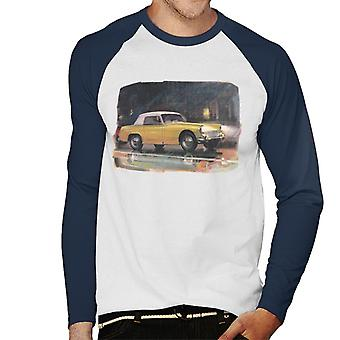 Austin Healey Yellow British Motor Heritage Men's Baseball Long Sleeved T-Shirt