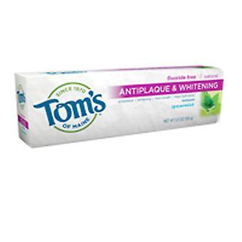 Tom's von Maine Zahnpasta Anti-Plaque, Tartar Kontrolle Whitening Spearmint 5,5 Unzen