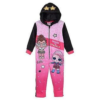 Fete TH2148 Lol Surpriza Hooded Fleece Sleepsuits / O singură bucată Pijamale