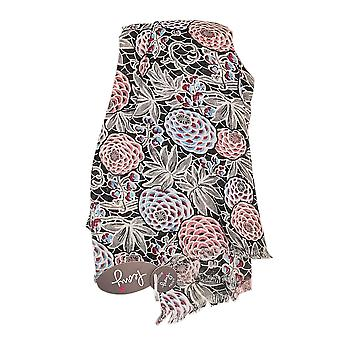 Charcoal Pine Cones Scarf by Peony