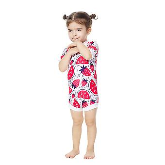 Bonverano Infant Girls One Piece UPF 50+ Sun Protection S/S Mangas Zip Sunsuit