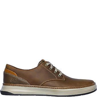 Skechers Herren Moreno Gustom Leder Casual Schuhe