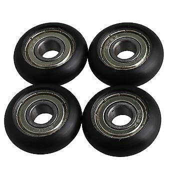 4 Pack Black Bearing Steel Guide Pulley Wheel Ball Bearing 8x29x10mm
