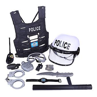 Pretend Play Police Toys Set- Simulation Policeman Role Play Kits Toy Playing