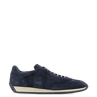 Fabi Fu9141 Men's Blue Suede Sneakers