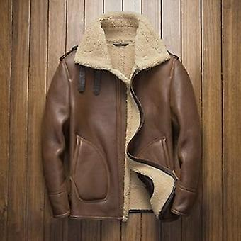 Davis men's natural shearling leather coat