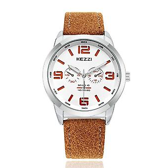 KEZZI 1538 Fashion Men Quartz Watch Casual Leather Strap Wrist Watch