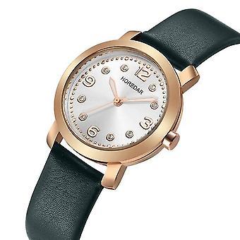 HOREDAR 306 Casual Style femmes Montre-bracelet élégant bracelet en cuir Quartz Montres quartz