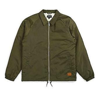 Brixton Claxton Collar Sherpa Jacket Olive