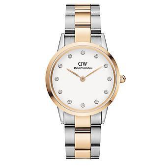 Daniel Wellington DW00100359 Iconic Lumine Two Tone With White Dial Wristwatch