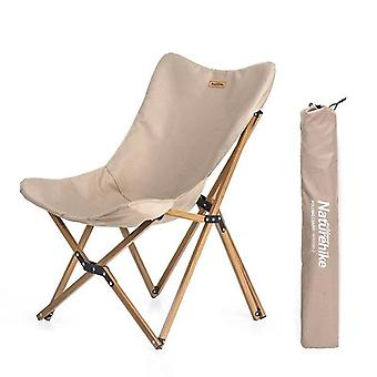 Wood Timber Fishing Chair Can For Office, Camping, Light Grain Nap, Outdoor