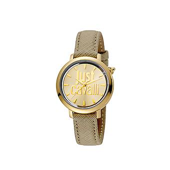 Just Cavalli JC1L007L0025 Womens Ivory leather strap watch with champagne dial