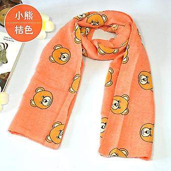 Baby Cartoon Bear Five-pointed Autumn  Winter Scarf