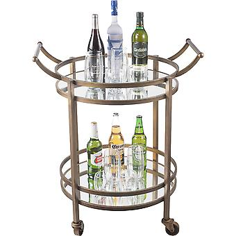 Spura Home Two Tier Round Bar Table in Bronze Color 30X24X36H