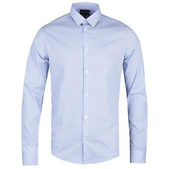 Emporio Armani Long Sleeve Blue Stripe Shirt