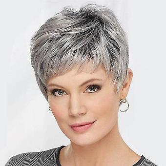 Women's Short Hair Wig Women's Fashion Mixed Color Bangs Synthetic Wigs Wig