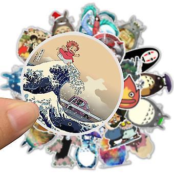10/30/50pcs wasserdichte Cartoon Totoro Spirited Weg Aufkleber Skateboard,