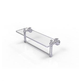 Waverly Platz 16 Zoll Glas Eitelkeit Regal mit integrierten Handtuchleiste - Wp-1Tb/16-Sch