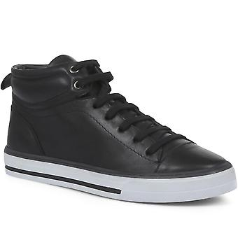 Jones Bootmaker Womens Brompton Leather High Top Trainers