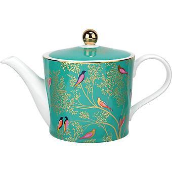 Sara Miller for Portmeirion Chelsea Teapot, Ceramic, Green, 290 x 175 x 150 cm