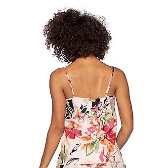 Cyberjammies Natalie 4796 Kvinnor's Peach Mix Blommig bomull Cami Pyjama Topp