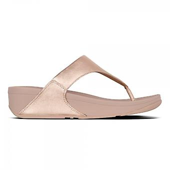 FitFlop Lulu Ladies Leather Toe Post Sandal Rose Gold