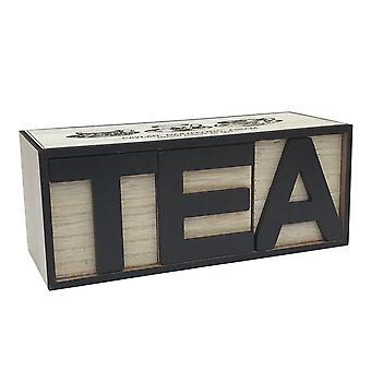 Large Letter Tea Box